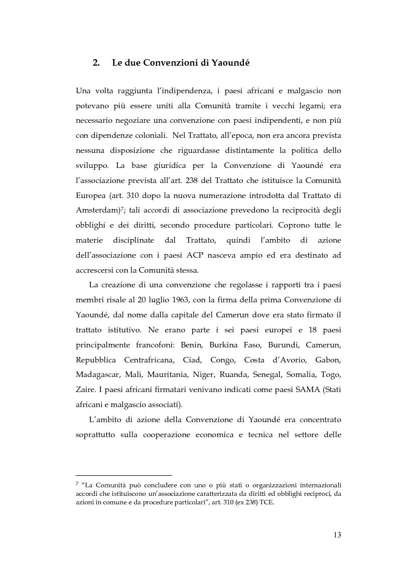 Anteprima della tesi: L'evoluzione della cooperazione giuridica UE-ACP da Lomé a Cotonou, Pagina 9