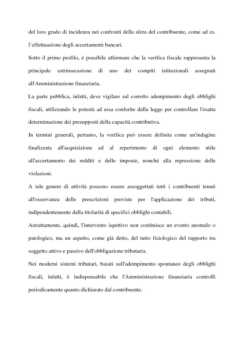 Anteprima della tesi: La tutela del contribuente e le verifiche fiscali della guardia di finanza, Pagina 3