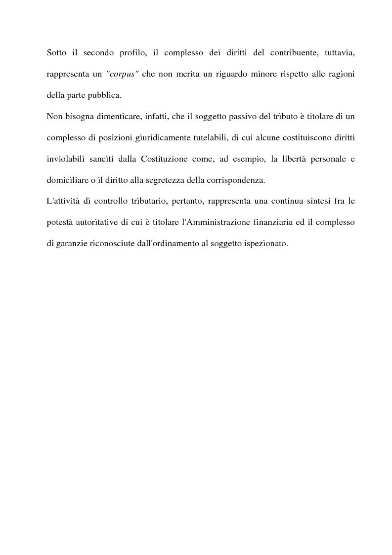 Anteprima della tesi: La tutela del contribuente e le verifiche fiscali della guardia di finanza, Pagina 4