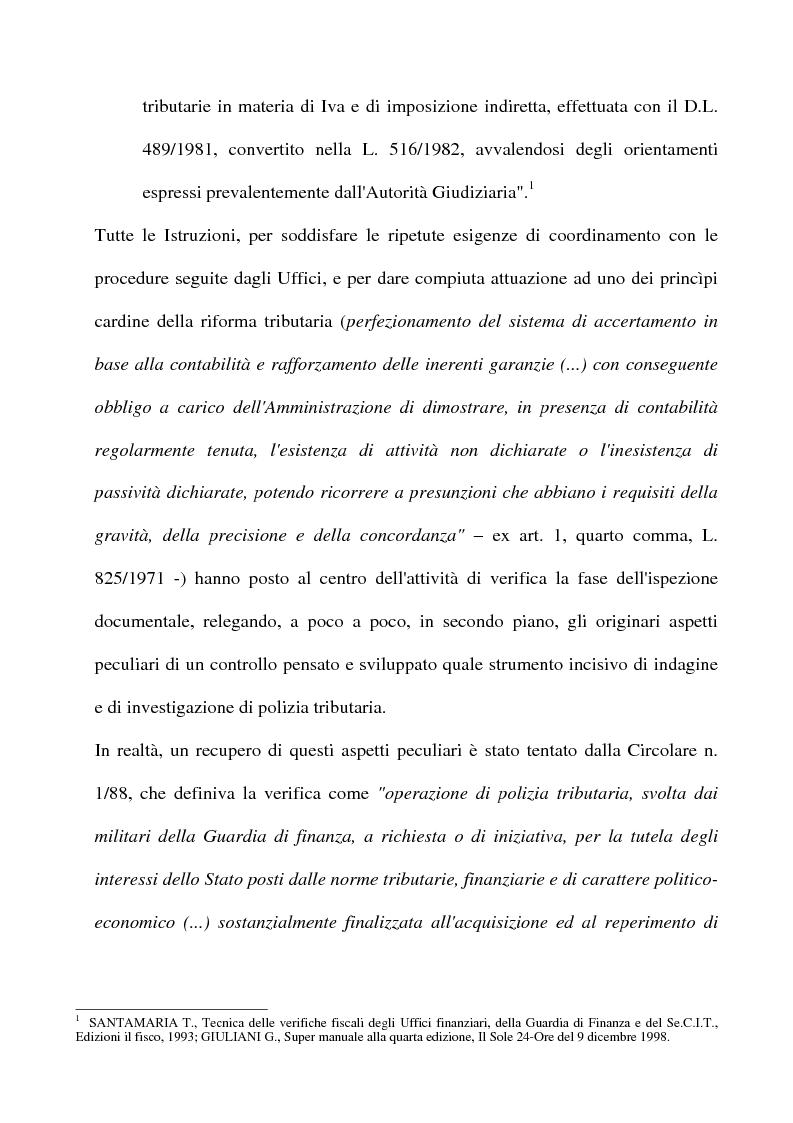 Anteprima della tesi: La tutela del contribuente e le verifiche fiscali della guardia di finanza, Pagina 7