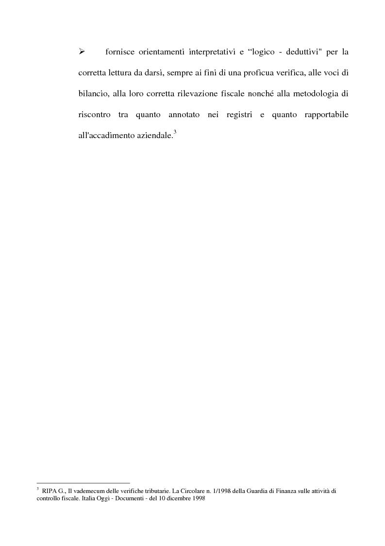 Anteprima della tesi: La tutela del contribuente e le verifiche fiscali della guardia di finanza, Pagina 9