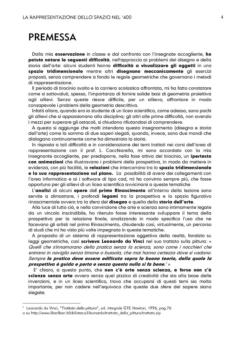 Anteprima della tesi: La rappresentazione dello spazio nel 400, Pagina 2