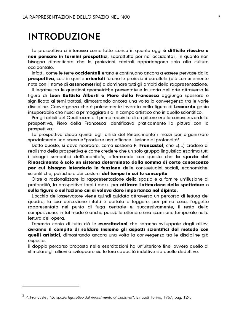 Anteprima della tesi: La rappresentazione dello spazio nel 400, Pagina 3