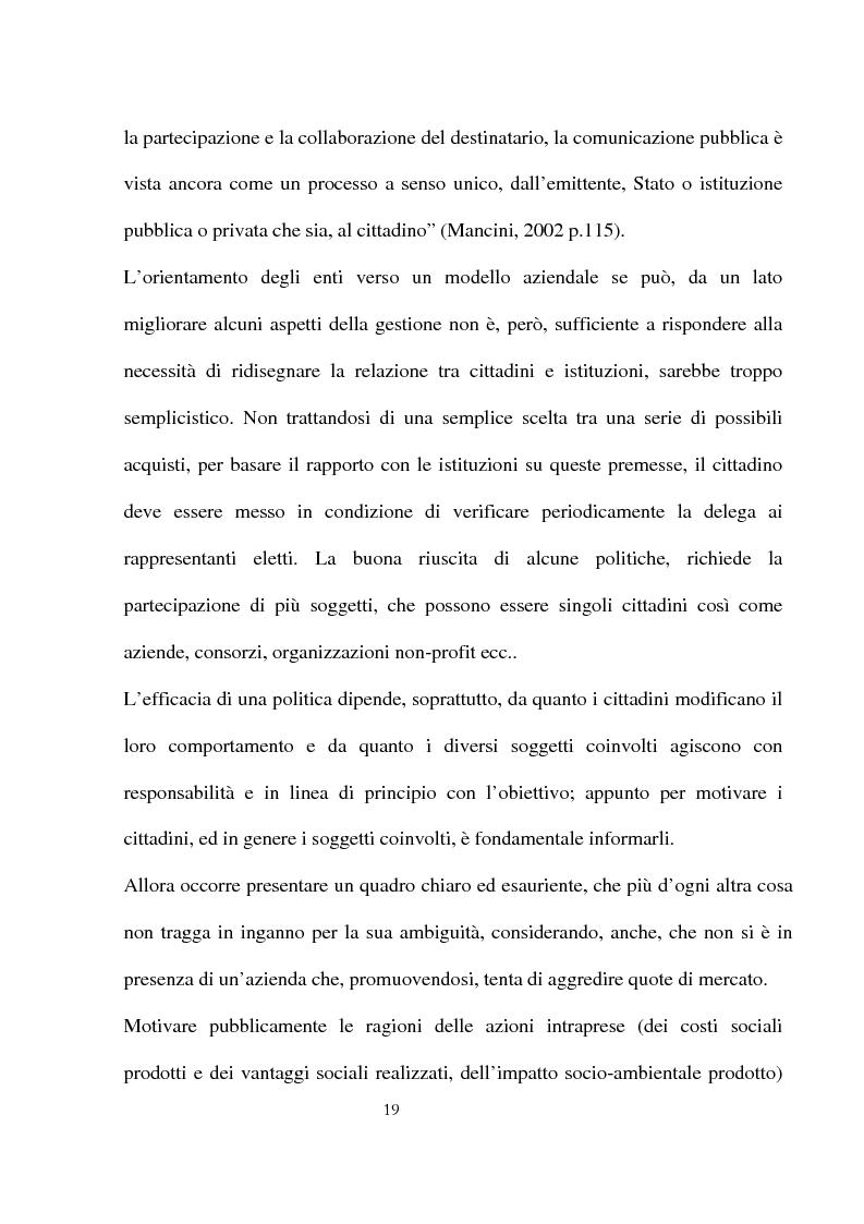 Anteprima della tesi: Innovazioni e strategie per la comunicazione della responsabilità sociale nella pubblica amministrazione, Pagina 15