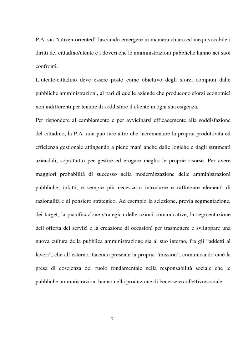 Anteprima della tesi: Innovazioni e strategie per la comunicazione della responsabilità sociale nella pubblica amministrazione, Pagina 3