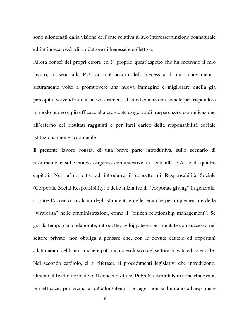 Anteprima della tesi: Innovazioni e strategie per la comunicazione della responsabilità sociale nella pubblica amministrazione, Pagina 5