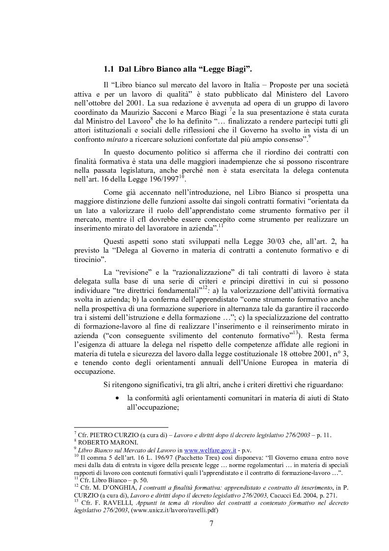 Anteprima della tesi: Il contratto di inserimento ed il CFL nel decreto legislativo 276/03, Pagina 4