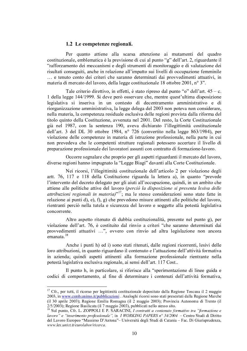 Anteprima della tesi: Il contratto di inserimento ed il CFL nel decreto legislativo 276/03, Pagina 7