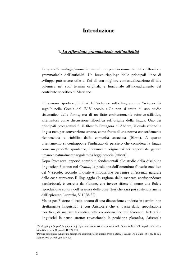 Anteprima della tesi: Analogia e anomalia in Marziano Capella, Pagina 2