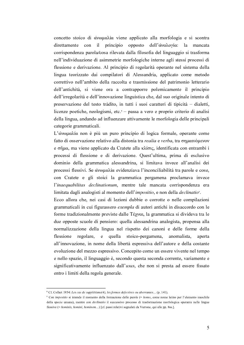 Anteprima della tesi: Analogia e anomalia in Marziano Capella, Pagina 5