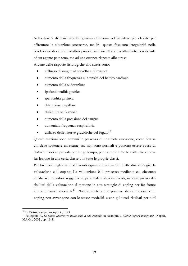 Anteprima della tesi: Mal di scuola: la sindrome del burn out negli insegnanti di scuola media, Pagina 12