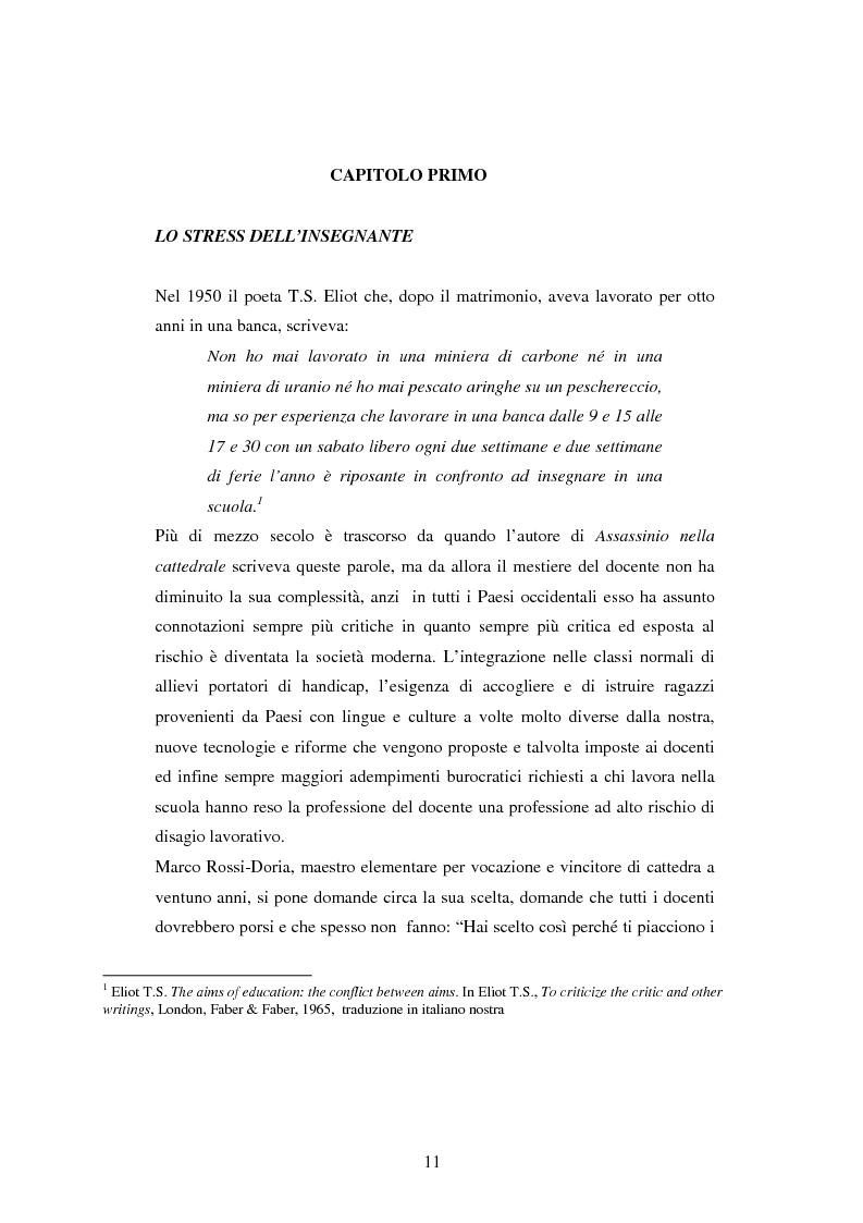 Anteprima della tesi: Mal di scuola: la sindrome del burn out negli insegnanti di scuola media, Pagina 6