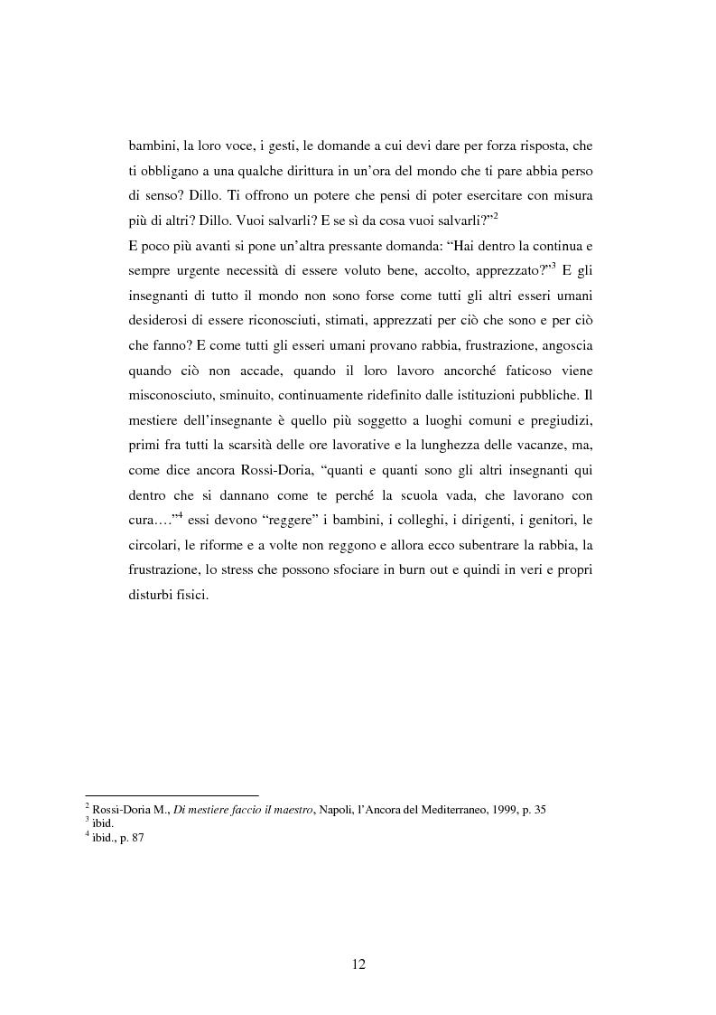 Anteprima della tesi: Mal di scuola: la sindrome del burn out negli insegnanti di scuola media, Pagina 7