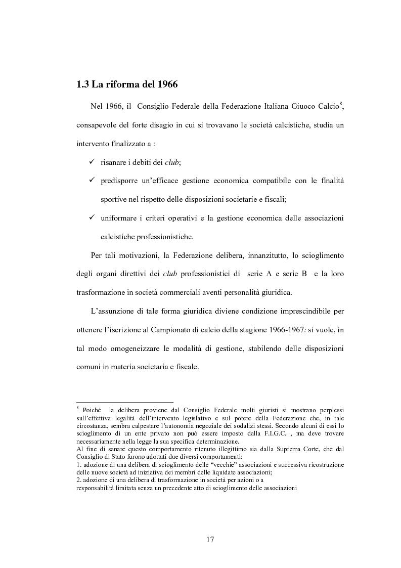 Anteprima della tesi: La crisi delle aziende calcistiche. Il caso S.S.Lazio, Pagina 14