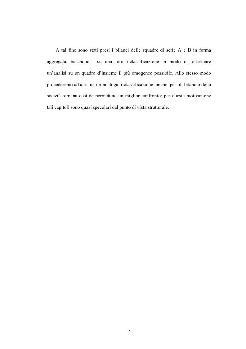 Anteprima della tesi: La crisi delle aziende calcistiche. Il caso S.S.Lazio, Pagina 4