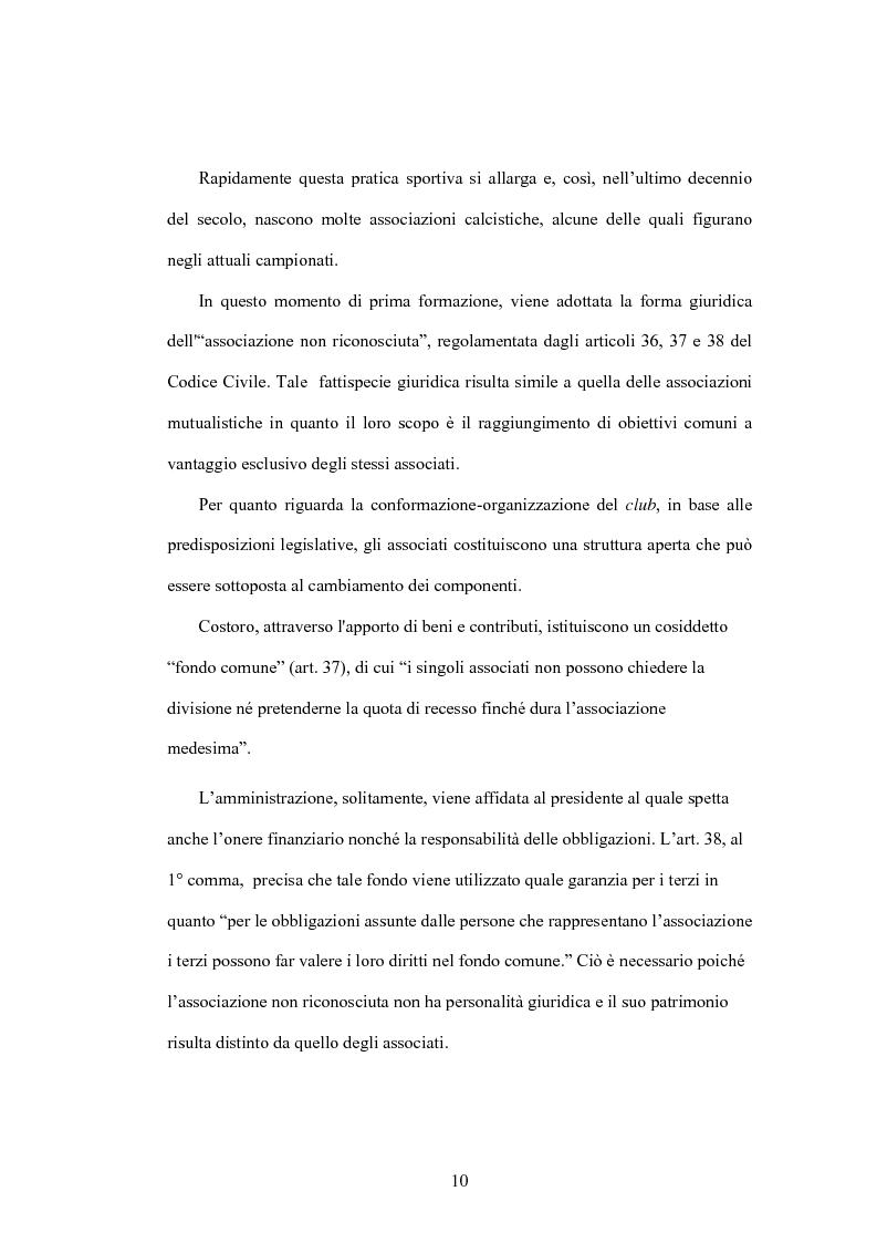 Anteprima della tesi: La crisi delle aziende calcistiche. Il caso S.S.Lazio, Pagina 7