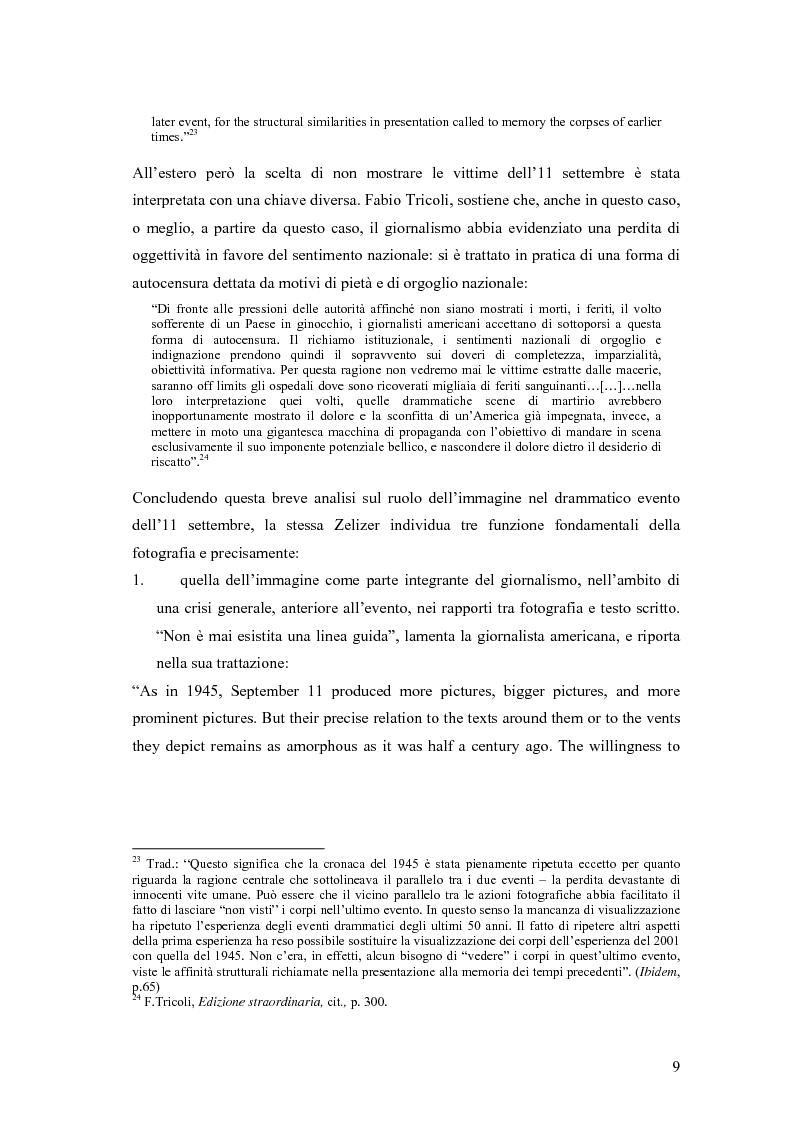 Anteprima della tesi: Il dibattito sull'informazione nella stampa internazionale dopo l'11 settembre 2001, Pagina 12