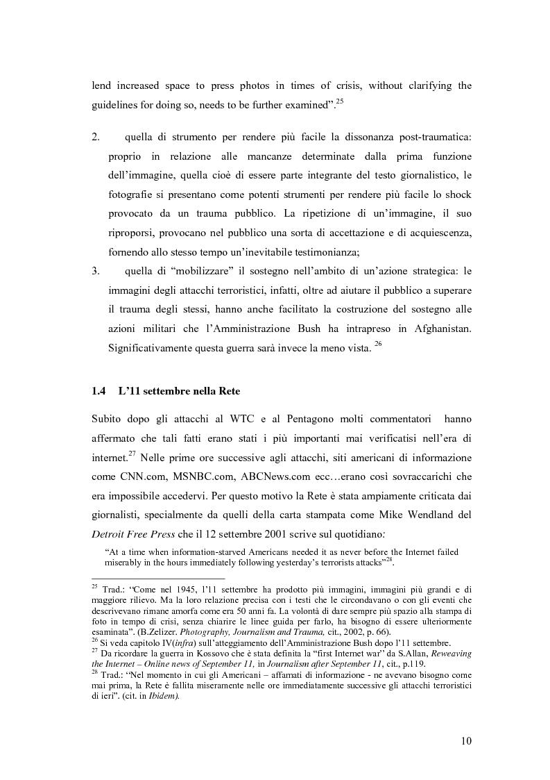 Anteprima della tesi: Il dibattito sull'informazione nella stampa internazionale dopo l'11 settembre 2001, Pagina 13
