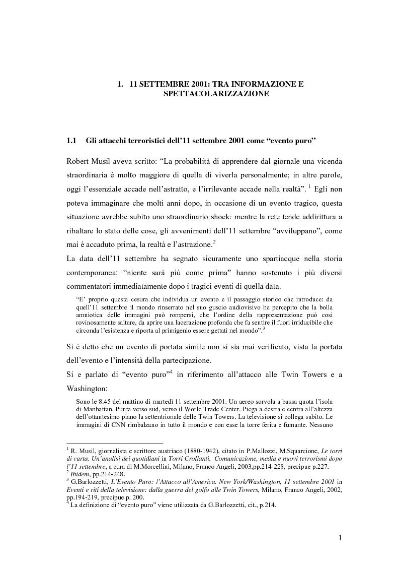 Anteprima della tesi: Il dibattito sull'informazione nella stampa internazionale dopo l'11 settembre 2001, Pagina 4
