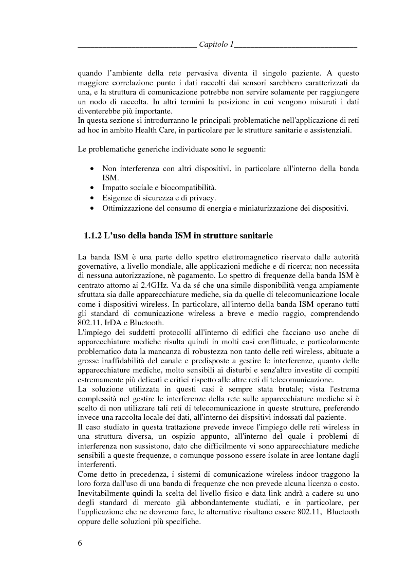 Anteprima della tesi: Protocolli di Routing per reti Ad Hoc e pervasive computing: un'applicazione all'Health Care, Pagina 5