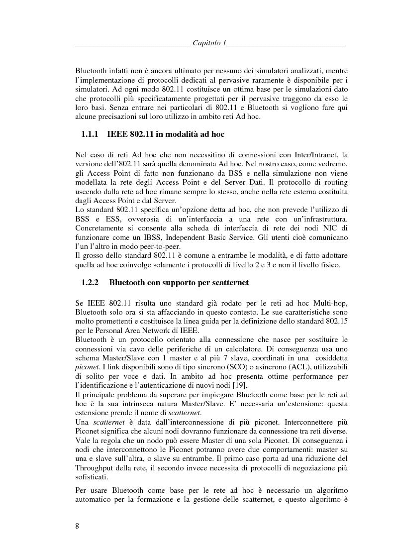 Anteprima della tesi: Protocolli di Routing per reti Ad Hoc e pervasive computing: un'applicazione all'Health Care, Pagina 7