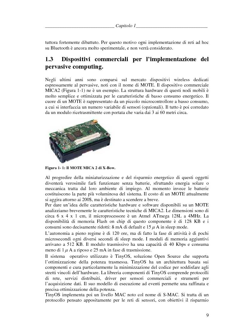 Anteprima della tesi: Protocolli di Routing per reti Ad Hoc e pervasive computing: un'applicazione all'Health Care, Pagina 8