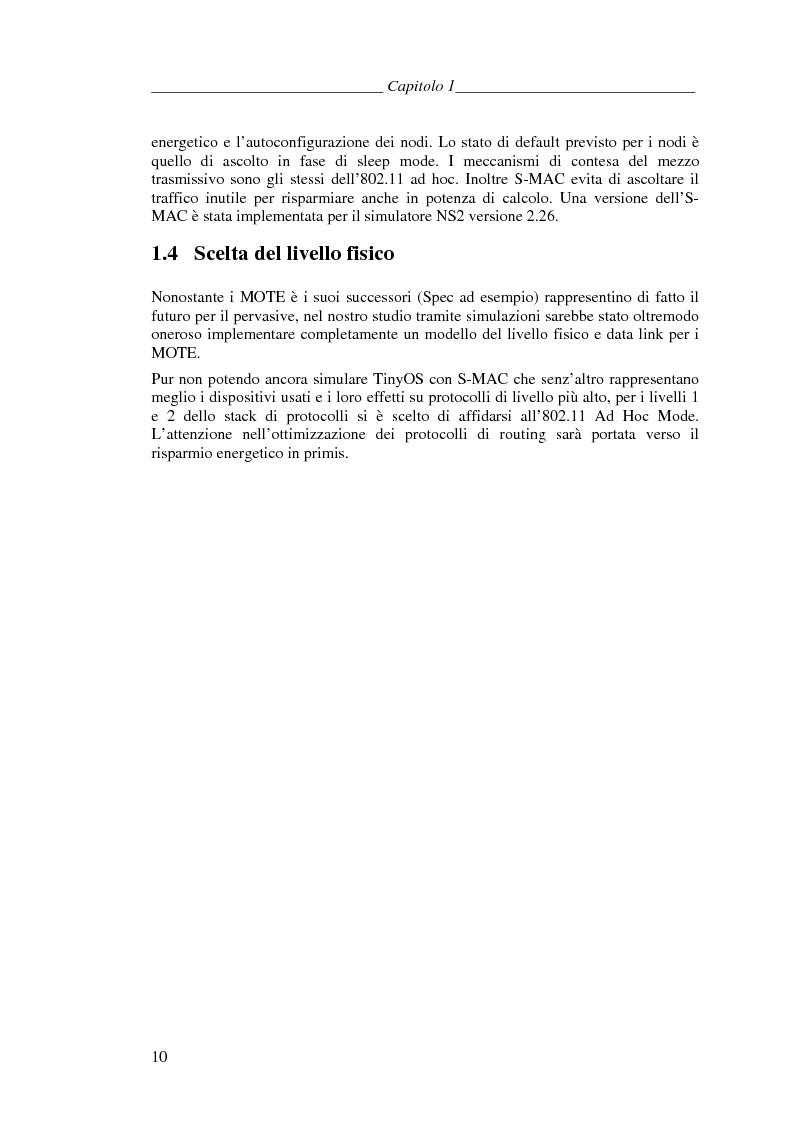 Anteprima della tesi: Protocolli di Routing per reti Ad Hoc e pervasive computing: un'applicazione all'Health Care, Pagina 9