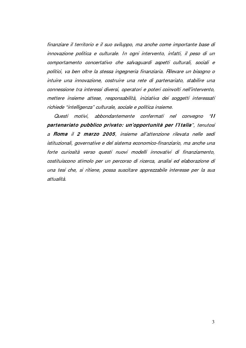 Anteprima della tesi: Il project financing: strumento innovativo per il sistema bancario, Pagina 3