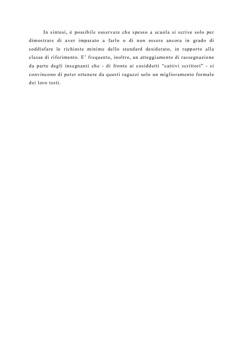 Anteprima della tesi: La produzione scritta: una proposta per la didattica della scrittura creativa nella scuola dell'obbligo, Pagina 2