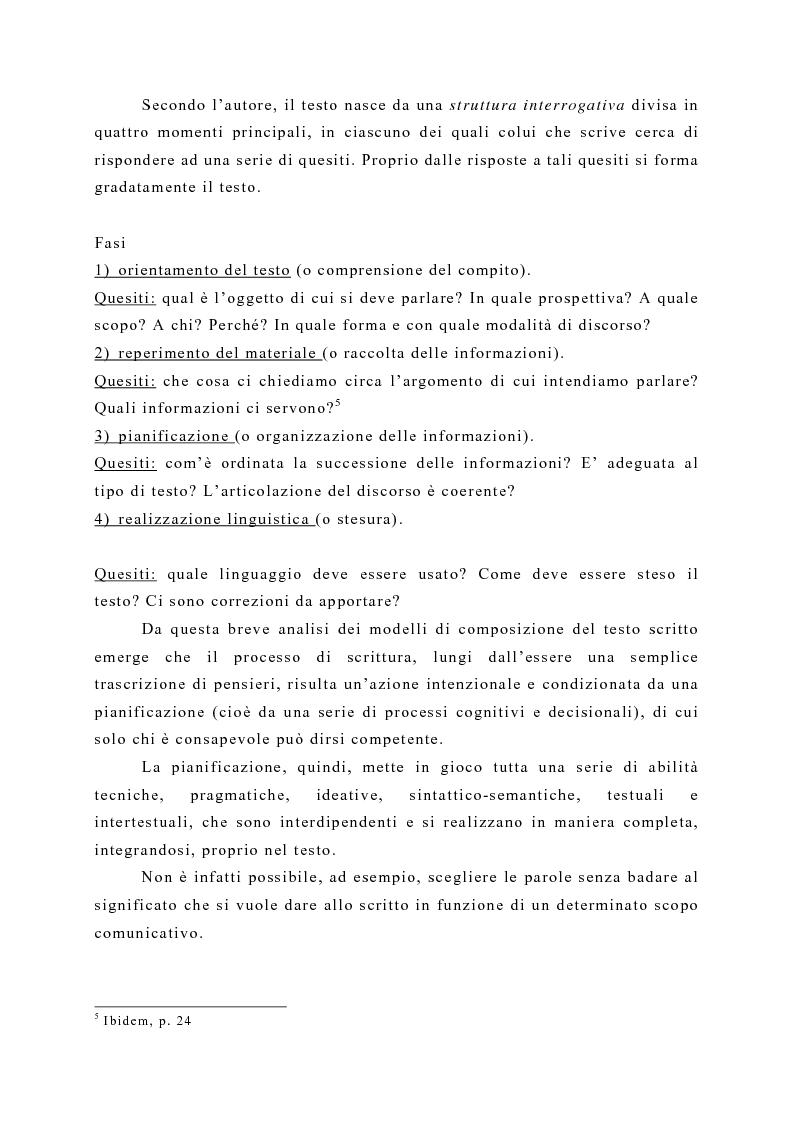 Anteprima della tesi: La produzione scritta: una proposta per la didattica della scrittura creativa nella scuola dell'obbligo, Pagina 4