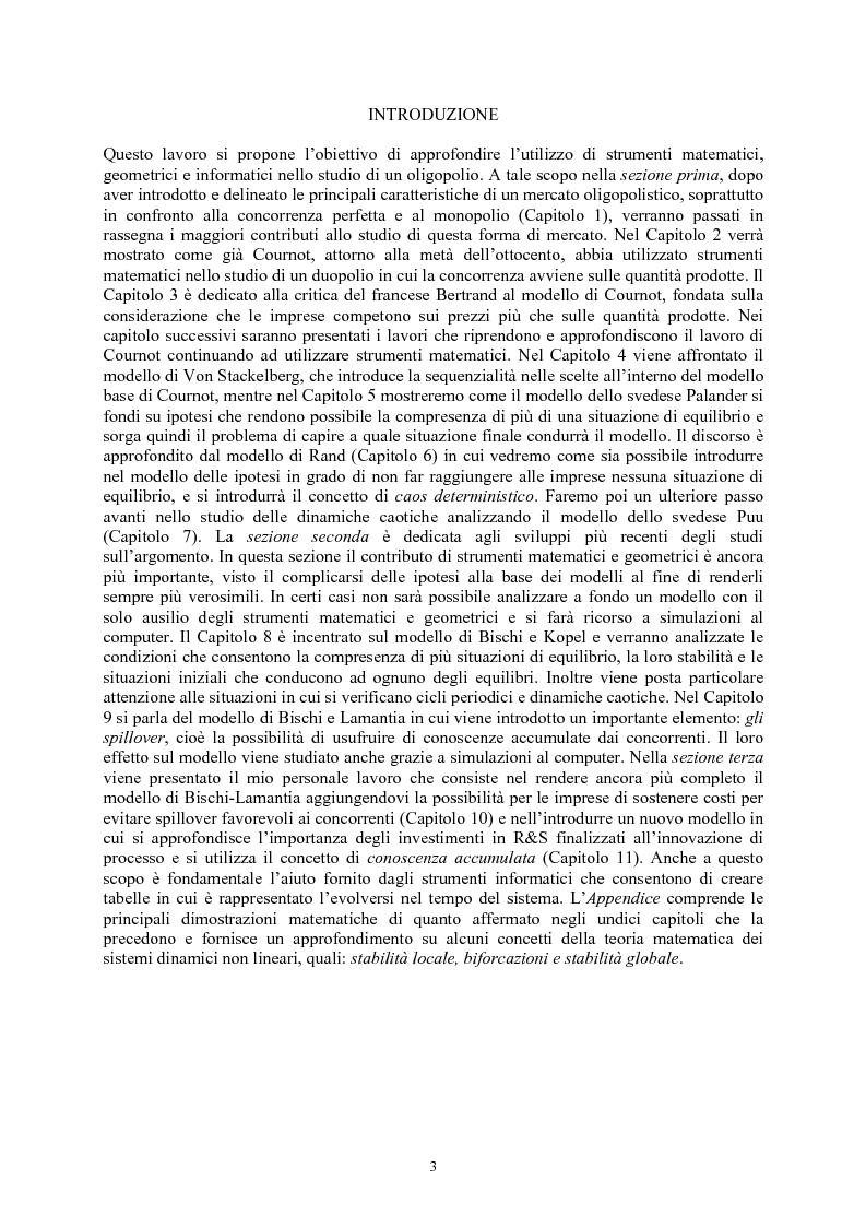 Anteprima della tesi: Modelli di oligopolio con ricerca e sviluppo e effetti di spillover, Pagina 1