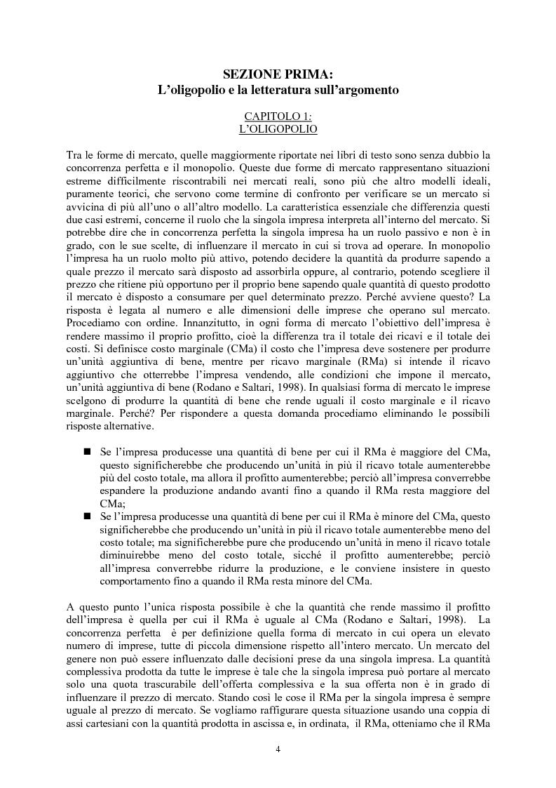 Anteprima della tesi: Modelli di oligopolio con ricerca e sviluppo e effetti di spillover, Pagina 2