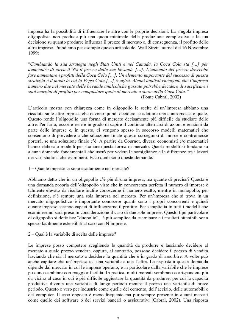Anteprima della tesi: Modelli di oligopolio con ricerca e sviluppo e effetti di spillover, Pagina 5