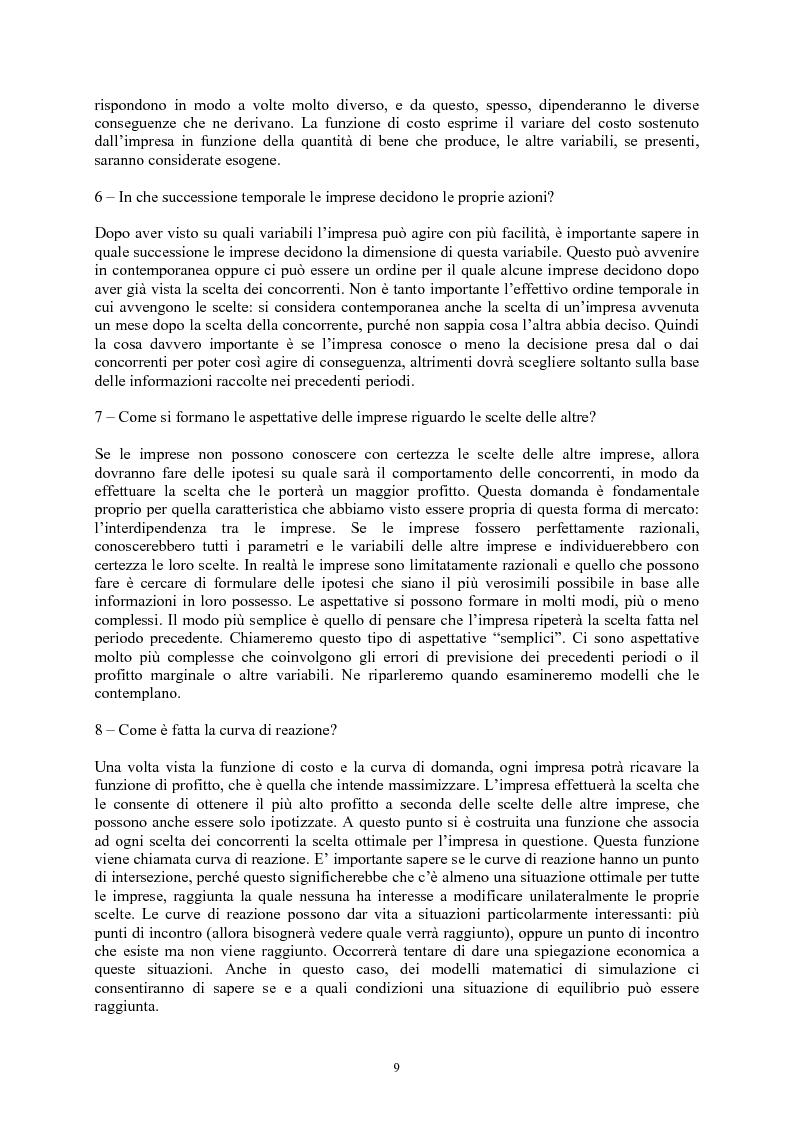 Anteprima della tesi: Modelli di oligopolio con ricerca e sviluppo e effetti di spillover, Pagina 7