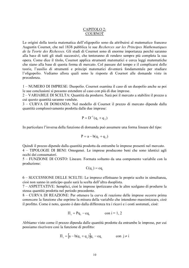 Anteprima della tesi: Modelli di oligopolio con ricerca e sviluppo e effetti di spillover, Pagina 8