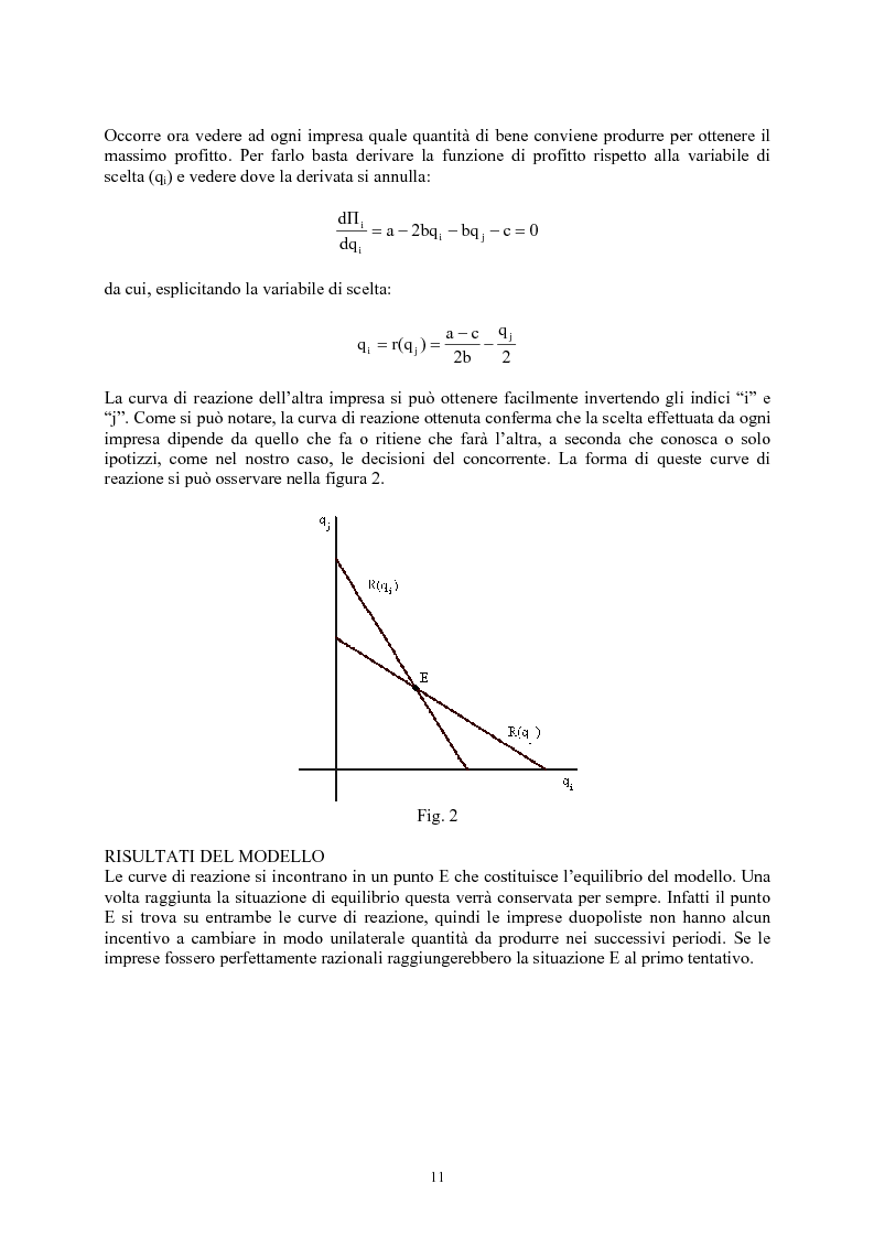 Anteprima della tesi: Modelli di oligopolio con ricerca e sviluppo e effetti di spillover, Pagina 9