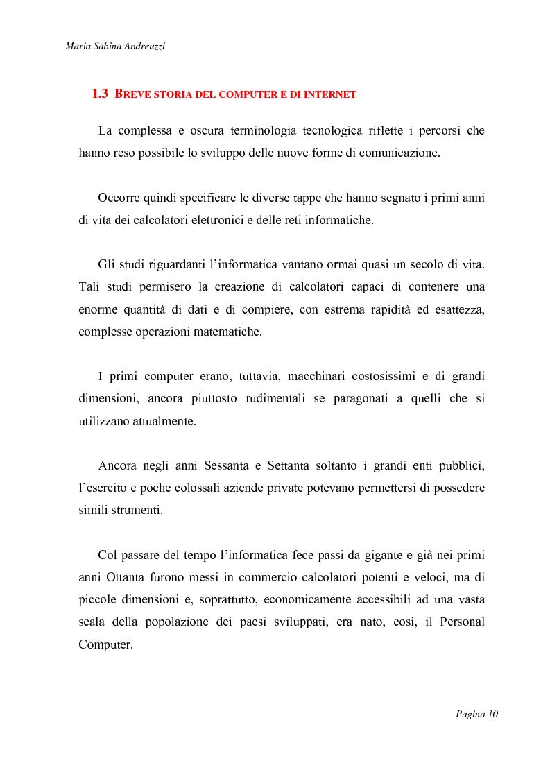 Anteprima della tesi: Technospeak: le nuove terminologie relative al mondo dell'informatica., Pagina 8