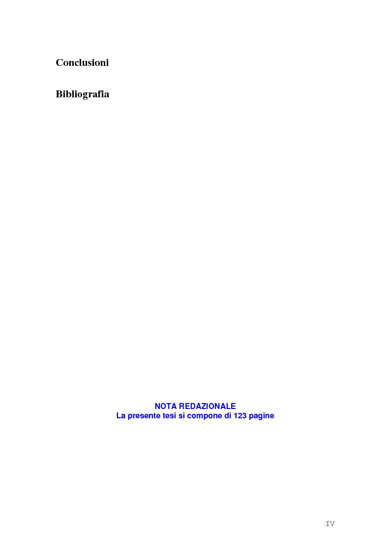 Indice della tesi: La Rep. Slovacca verso l'Unione Europea: analisi del processo di transizione, Pagina 4