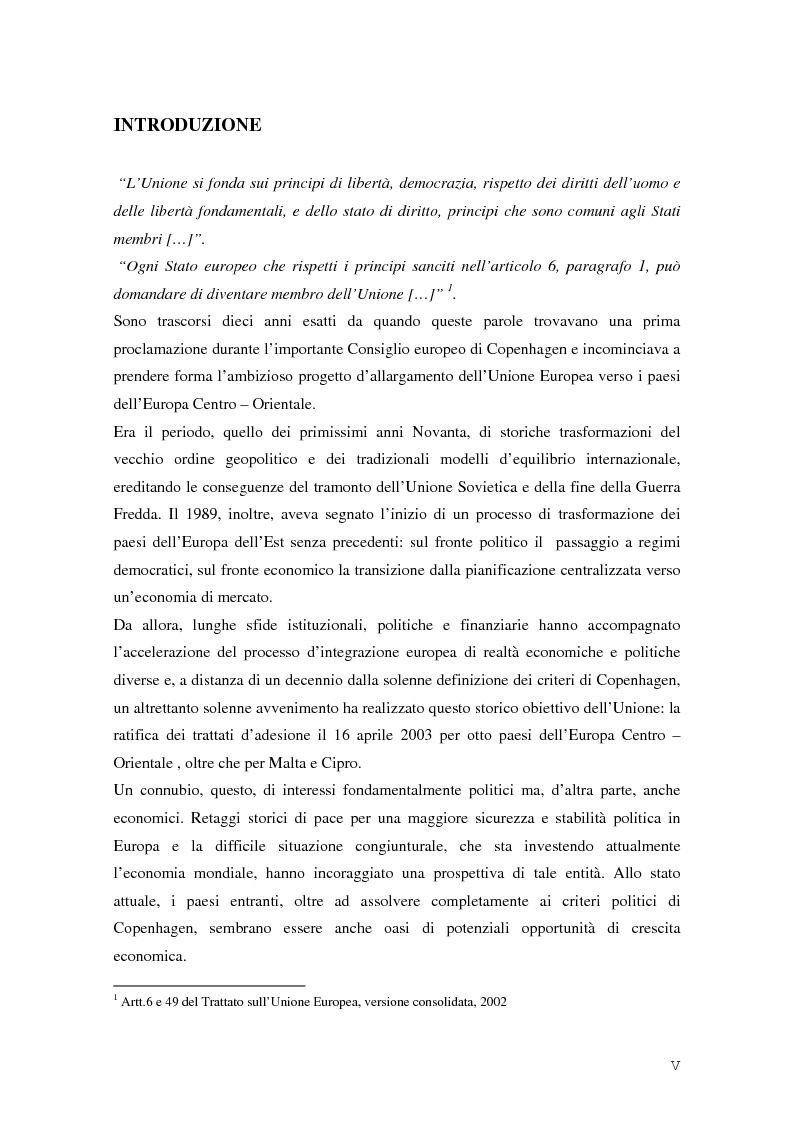Anteprima della tesi: La Rep. Slovacca verso l'Unione Europea: analisi del processo di transizione, Pagina 1