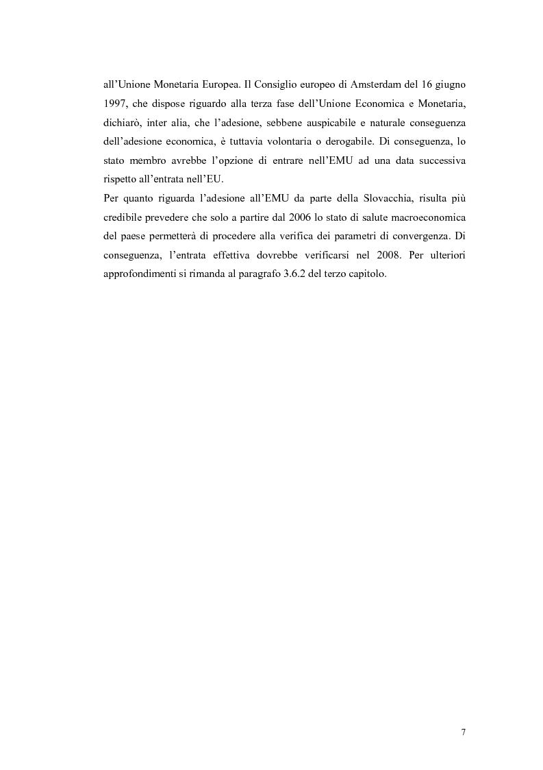 Anteprima della tesi: La Rep. Slovacca verso l'Unione Europea: analisi del processo di transizione, Pagina 11