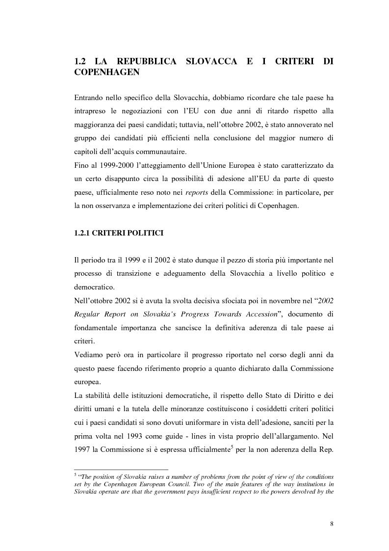 Anteprima della tesi: La Rep. Slovacca verso l'Unione Europea: analisi del processo di transizione, Pagina 12