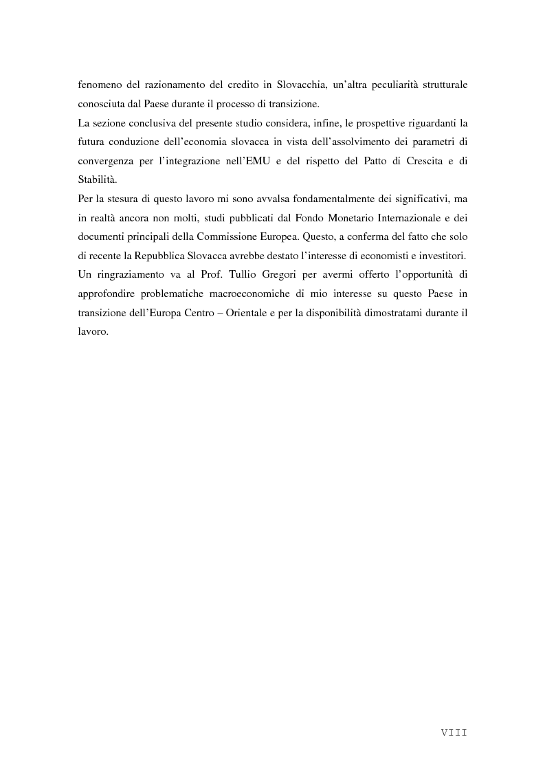 Anteprima della tesi: La Rep. Slovacca verso l'Unione Europea: analisi del processo di transizione, Pagina 4