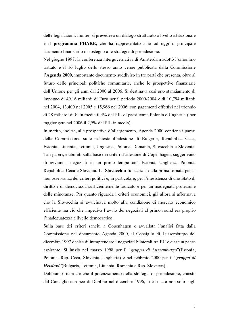 Anteprima della tesi: La Rep. Slovacca verso l'Unione Europea: analisi del processo di transizione, Pagina 6