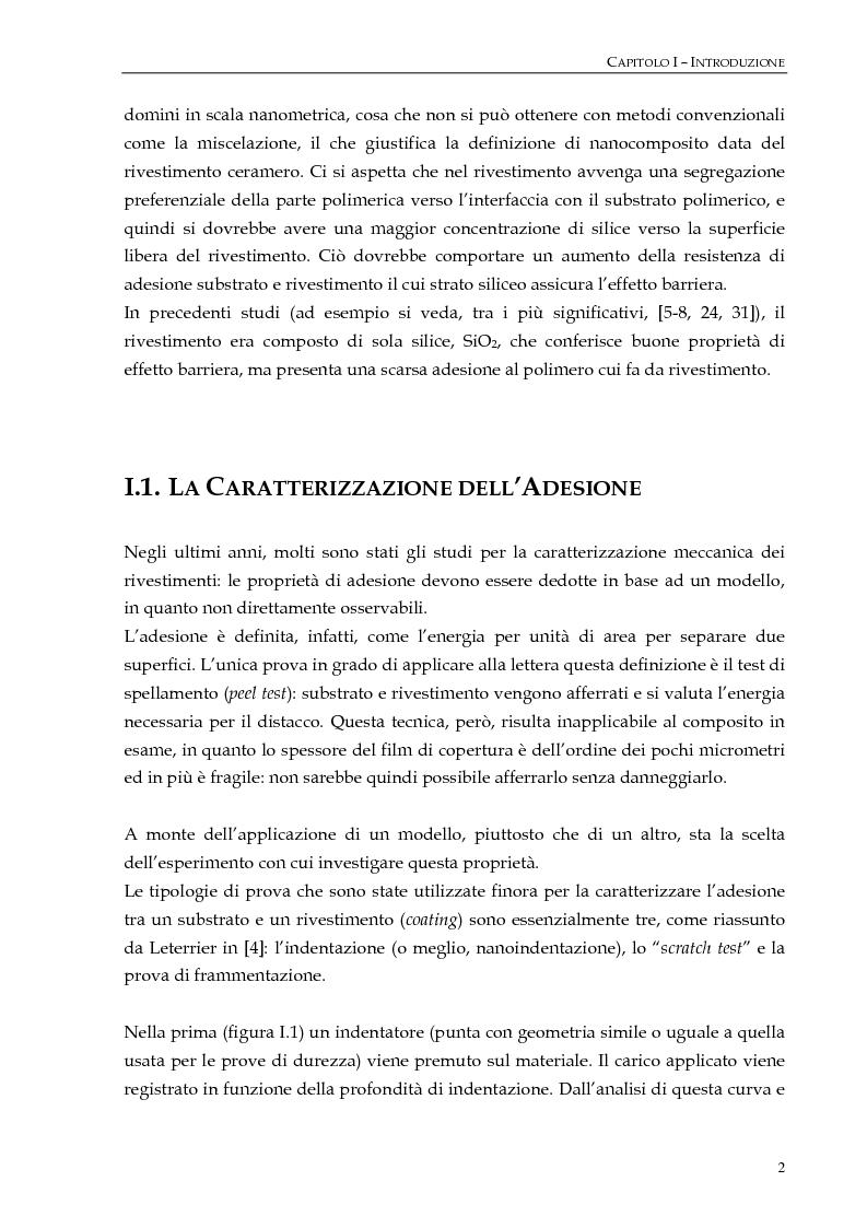 """Anteprima della tesi: Studio dell'adesione tra film polimerici e rivestimenti """"cerameri""""mediante la prova di frammentazione, Pagina 2"""
