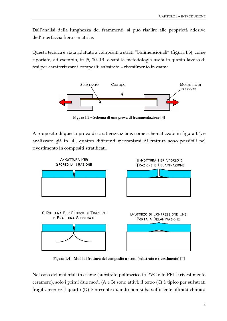 """Anteprima della tesi: Studio dell'adesione tra film polimerici e rivestimenti """"cerameri""""mediante la prova di frammentazione, Pagina 4"""
