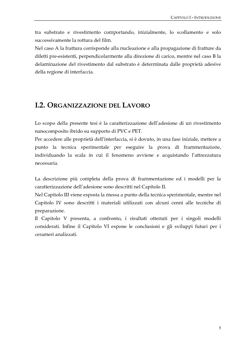 """Anteprima della tesi: Studio dell'adesione tra film polimerici e rivestimenti """"cerameri""""mediante la prova di frammentazione, Pagina 5"""