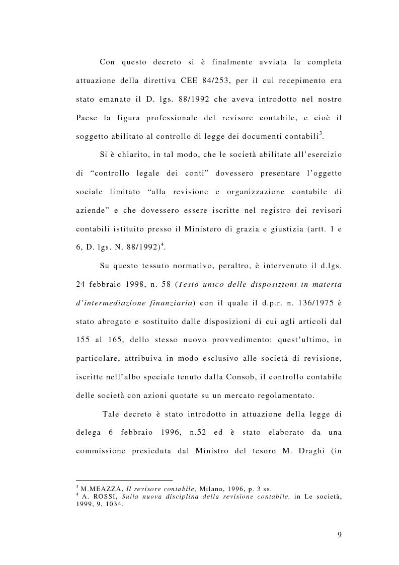 Anteprima della tesi: La responsabilità penale dei revisori, Pagina 4
