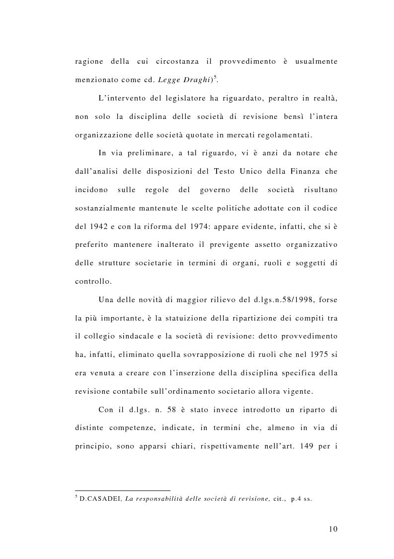 Anteprima della tesi: La responsabilità penale dei revisori, Pagina 5