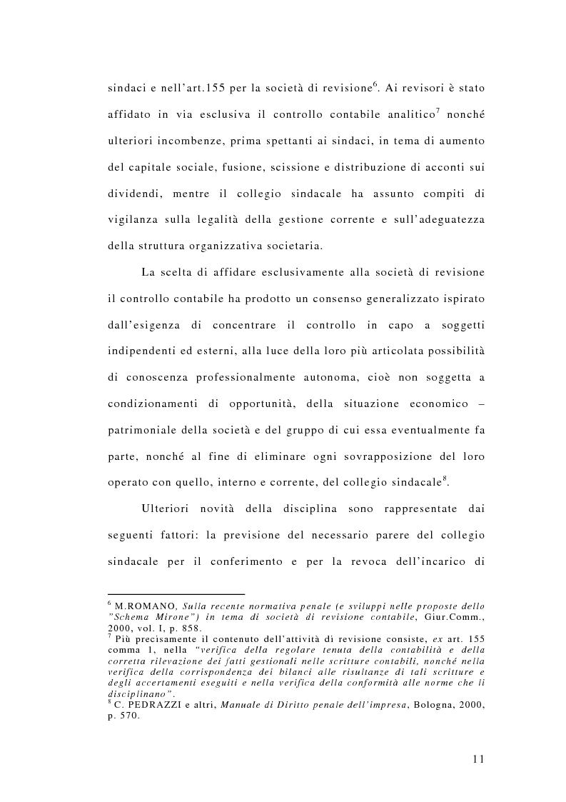 Anteprima della tesi: La responsabilità penale dei revisori, Pagina 6