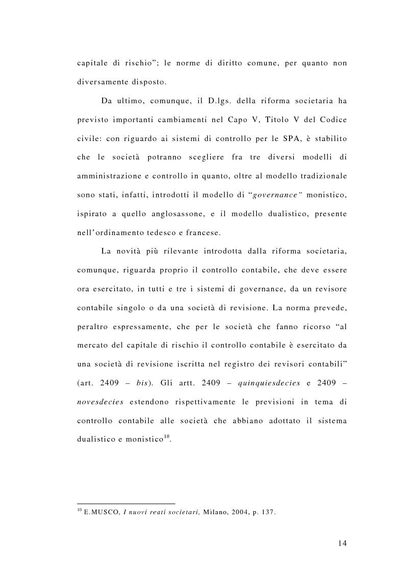 Anteprima della tesi: La responsabilità penale dei revisori, Pagina 9